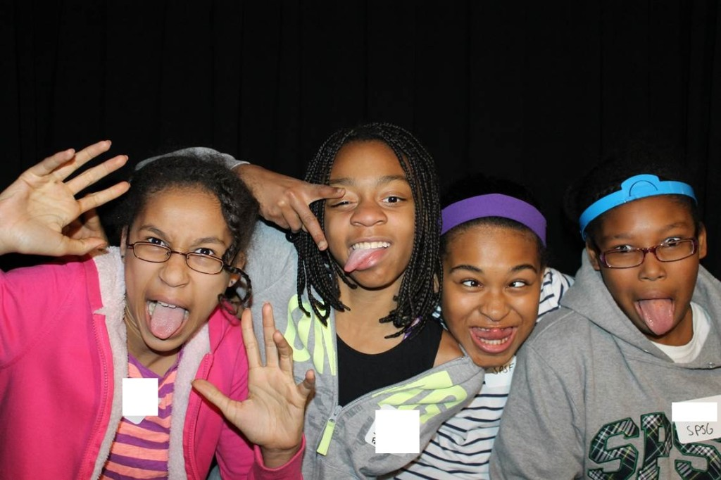 B.E.S.T. Middle School students in the photo booth