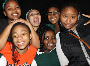 B.E.S.T. Middle Schoolers from St. Paul's School for Girls enjoy the Photo Booth