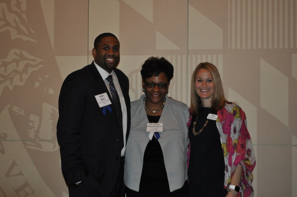 Calvin Wise, Senior Associate Director of Admissions at Johns Hopkins University; Dr. Cheryl Holcomb-McCoy, Vice Provost of Faculty Affairs at JHU and B.E.S.T. Trustee; Jessica Suriano, Executive Director at B.E.S.T.