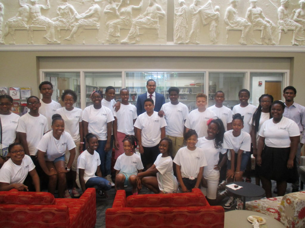 Summer Scholar B.E.S.T. students with Karlo Young, President Elect, B.E.S.T. Board of Trustees