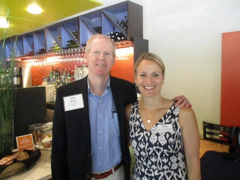Peter Baily, Executive Director of AIMS, with Jessica Suriano,  Executive Director of B.E.S.T.