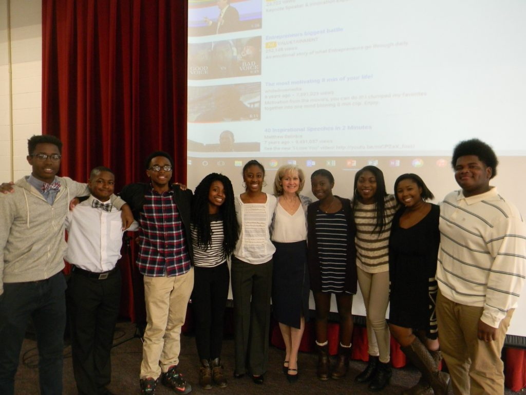 From left to right: Julian A., Wayne G., Jairus G., Kennedy C., Aniya M., Diane Beliveau, Carrington G., Cache T., Jasmynn M., and Jalen M. Missing: Lamont C.