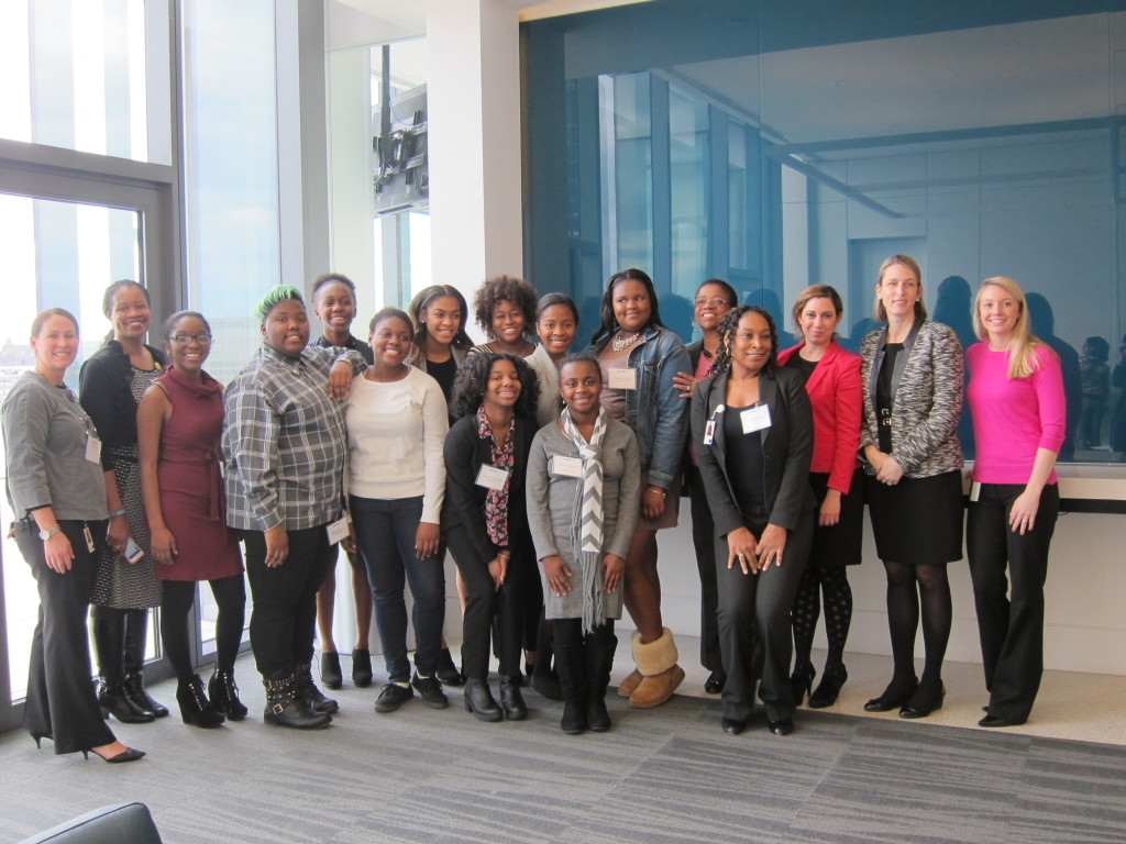 B.E.S.T. Students with Members of the Legg Mason Women's Leadership Network
