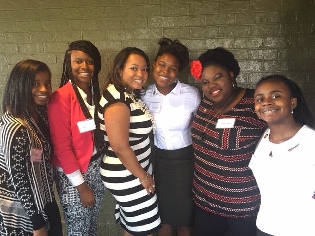 B.E.S.T. Students with B.E.S.T. Alumna and Trustee, Tiffani S. Collins '00, Esq.