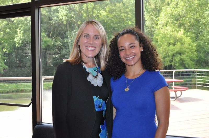 Caroline Blatti, Head of School at Roland Park Country School with Nikki Hasselbarth '04, Community Trustee and B.E.S.T. and Park School Alumna
